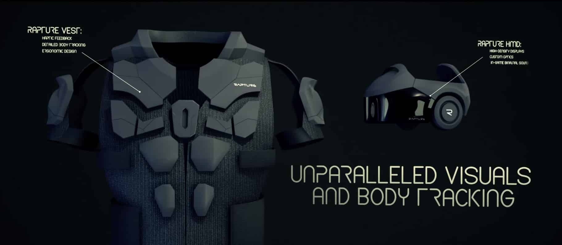 Virtual Reality Body Vest and HMD