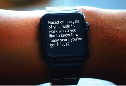 Smart Watch Health Message