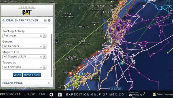 Not VR yet, but Ocearch Shark Tracking is using technology to save wildlife