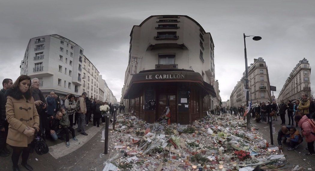 NY Times Virtual Reality film Paris vigils