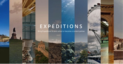 Google Expeditions uses Google Cardboard VR