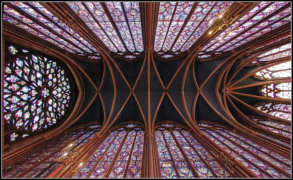 New Technology hundreds of years ago: Saint Chapelle Chapel in Paris - a stunning Gothic Cathedral