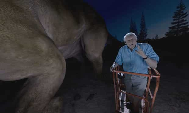 360 Video of a Dinosaur