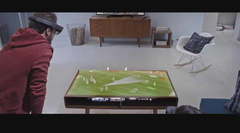 HoloLens AR Sports Game Play in highly realistic Augmented Reality