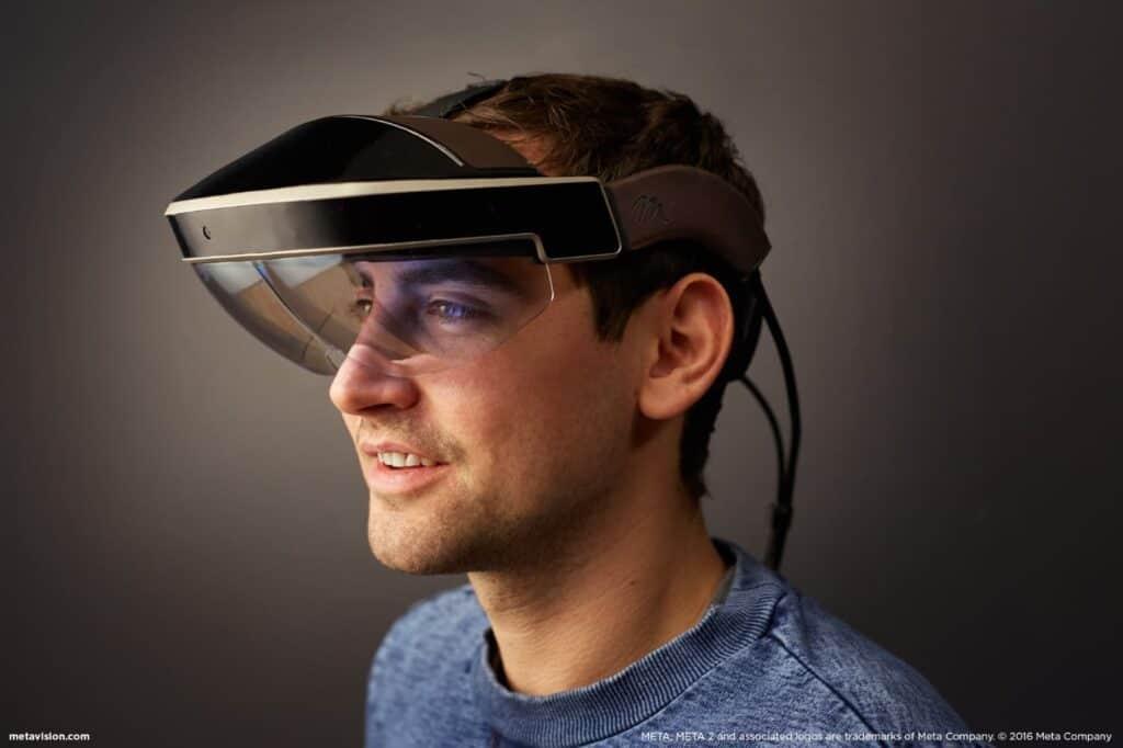 Meta 2 AR Glasses Worn