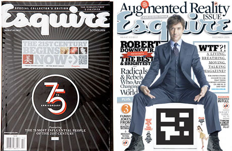 First Augmented Reality Magazine Cover - Esquire November 2009