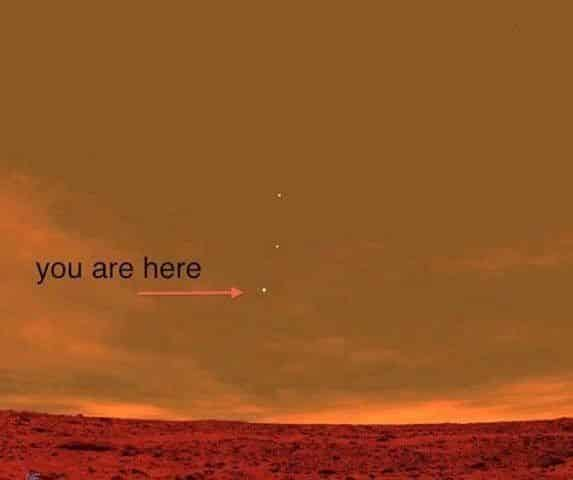 From Mars Looking at Earth