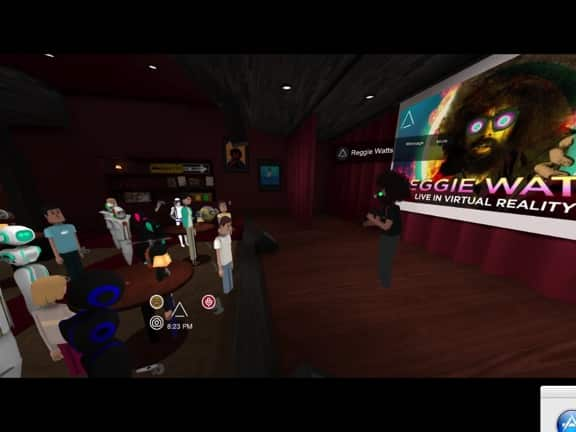 Reggie Watts performing in Social VR