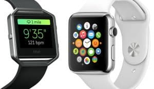 comparison of the Fitbit and Apple Watch.