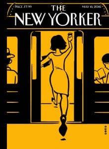The New Yorker Cover with Augmented Reality Image