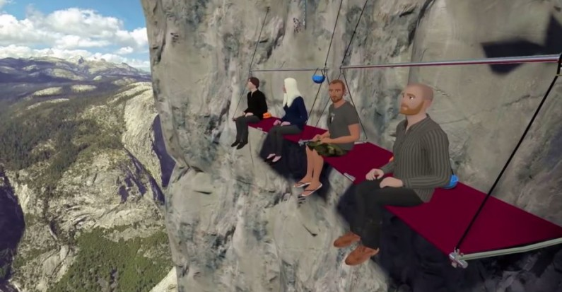 Social VR with vTime - Meeting on a cliff