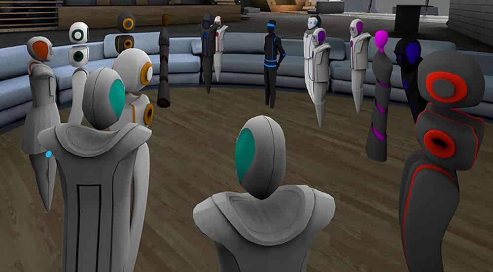 AltspaceVR gathering of avatars