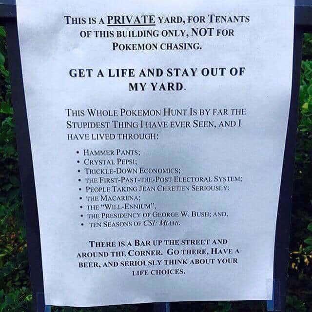 Anti-Pokemon Sign