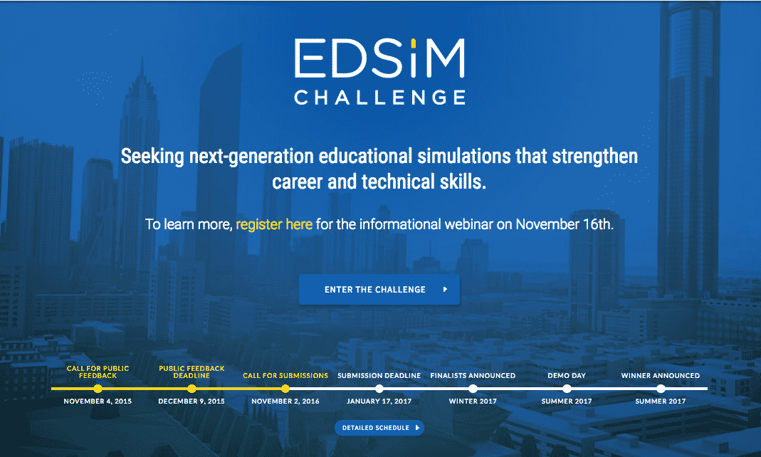 VR AR in the Future of Learning - Timeline for the EdSim-Challenge