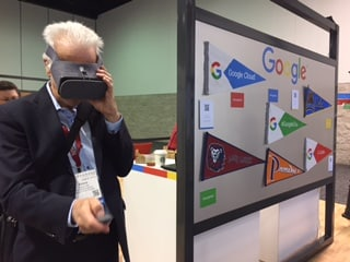 Emory Craig trying out Daydream View at Educause