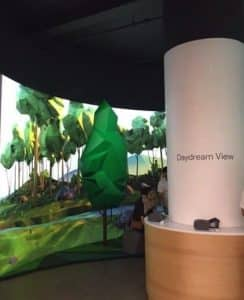 google-daydream space at the po-up store in Soho in NYC