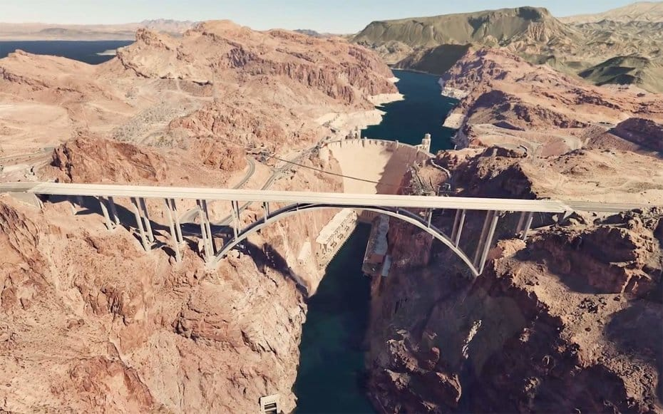 Google Earth VR moving through canyons