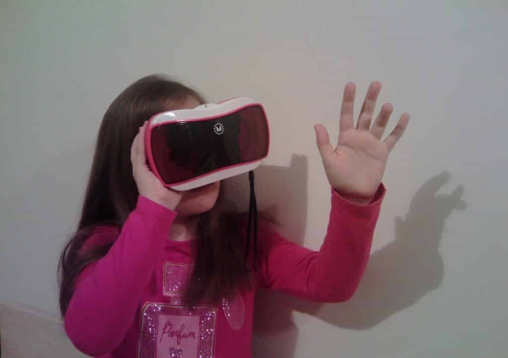 Virtual Reality and Children - my nine year old niece with a VR ViewMaster