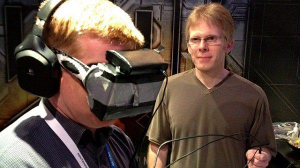 John Carmack demos a customized Doom BFG on an early Rift prototype at E3, June 2012