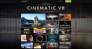 Cinematic VR in the Jaunt app.