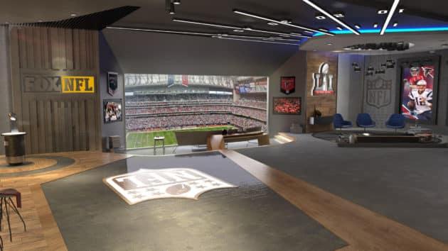 VR living room - Super Bowl in VR