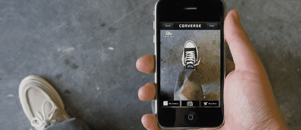 Converse using AR in retail