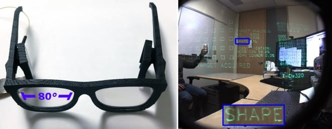 A prototype of the AR Glasses from Microsoft