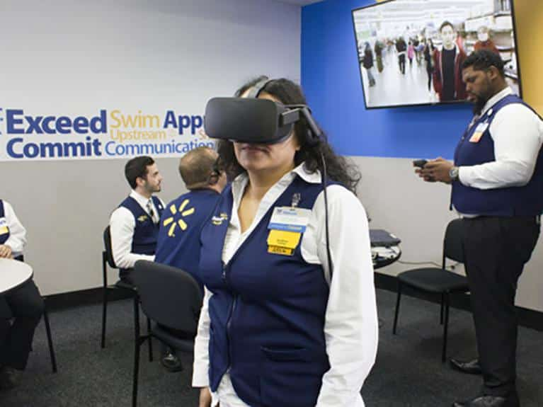 VR training simulator will revolution workplace training. Walmart and STRIVR are taking the first steps in the service industry sector.