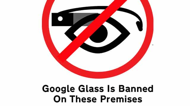Google Glass Ban SIgn