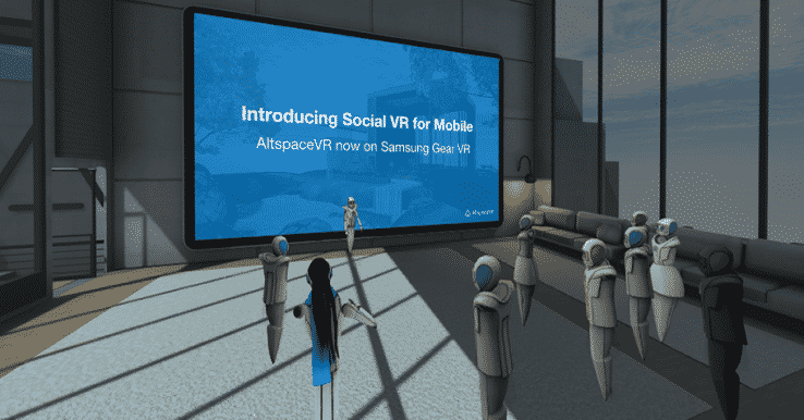 Press event in AltSpaceVR