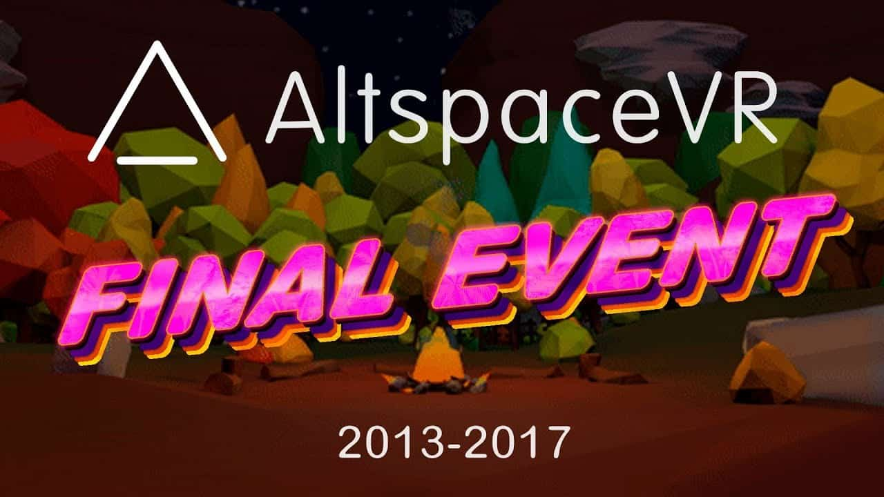 AltSpaceVR Closing Event