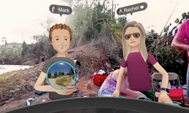 "Zuckerberg and Franklin using Social VR to ""teleport"" to Puerto Rico"