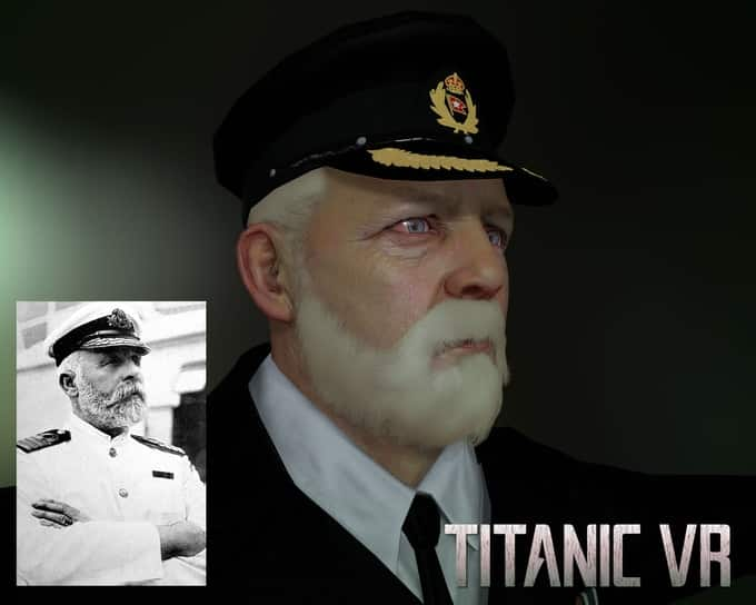 A rendering of the Titanic Captain in VR