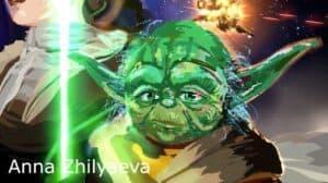 VR Painting of Star Wars Scene