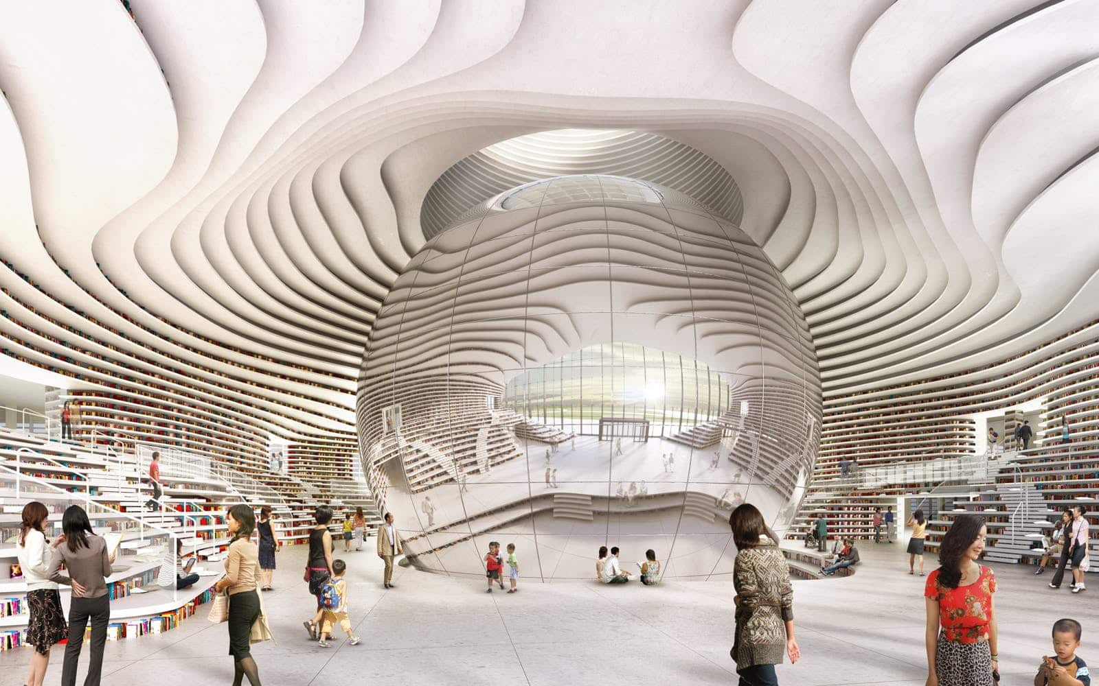 Tianjin Library - a different space in an Augmented Reality future
