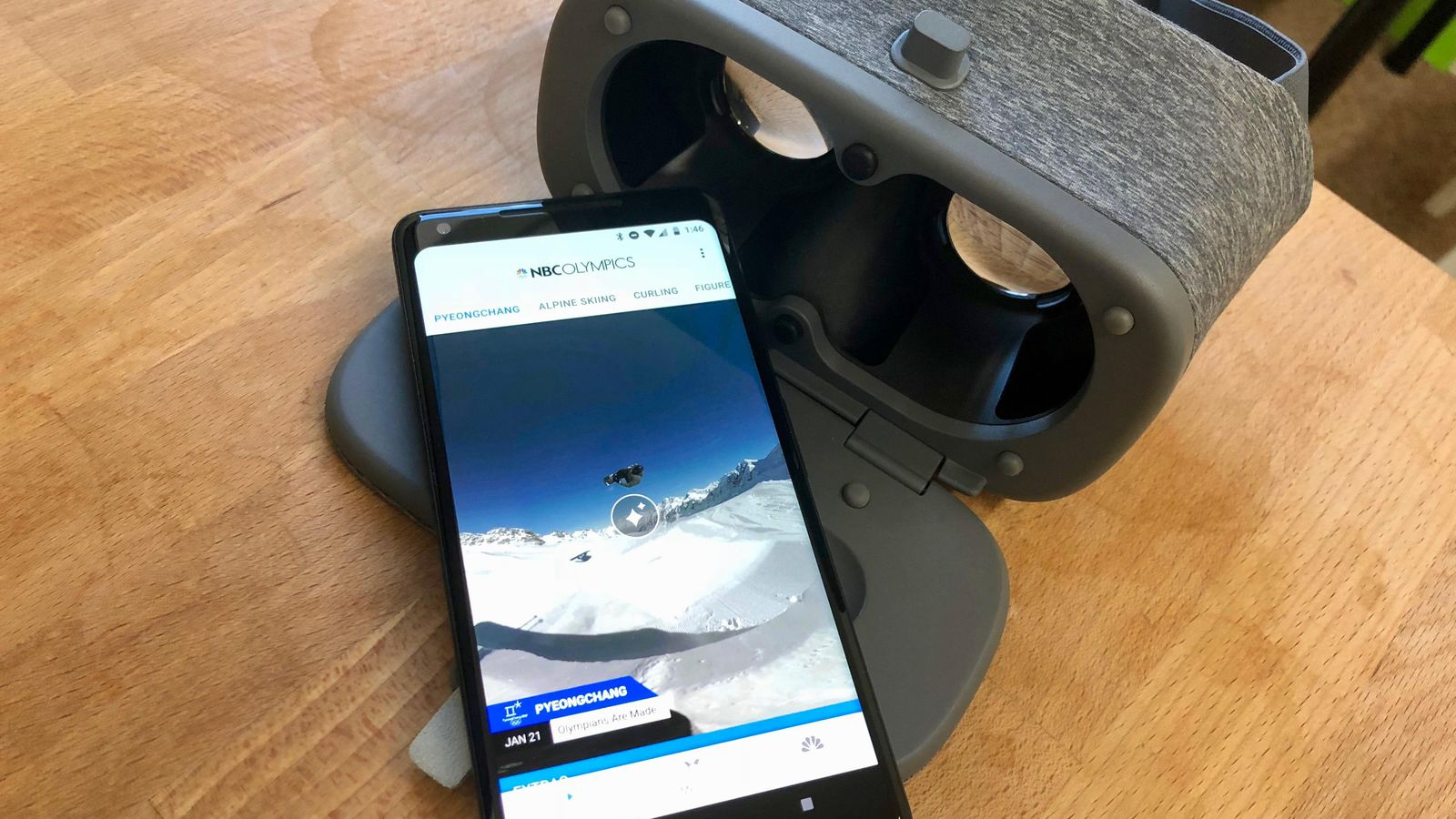 Winter Olympics in virtual reality