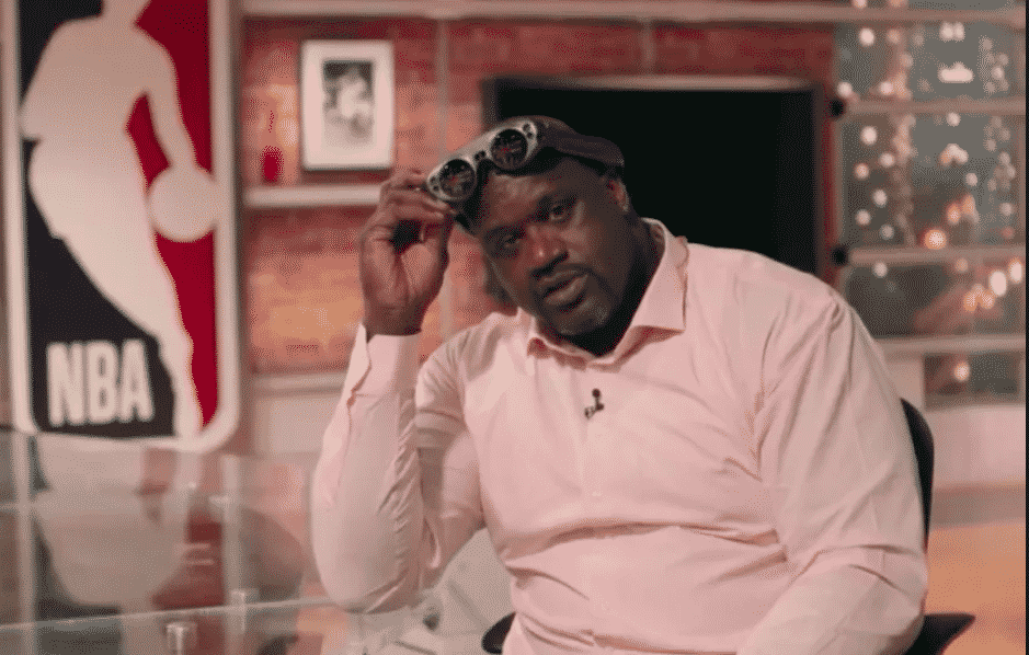 Magic Leap HMD on Shaquille ONeal