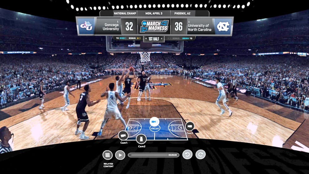 NCAA March Madness Sports in VR