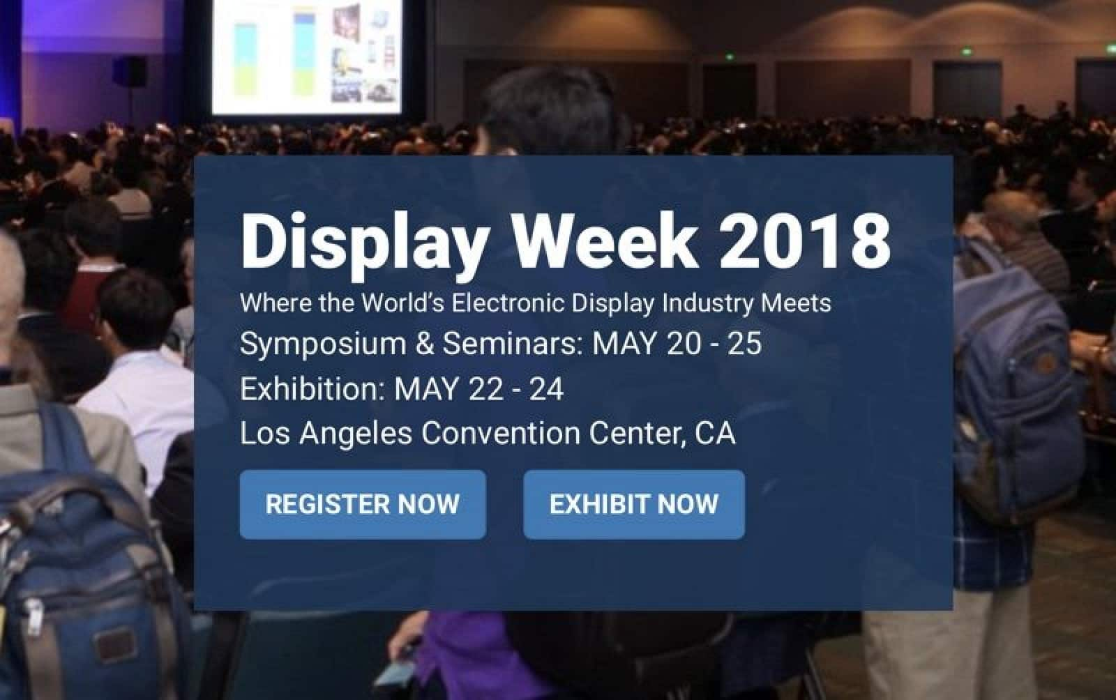Display Week 2018 Conference may lead to smaller VR headsets