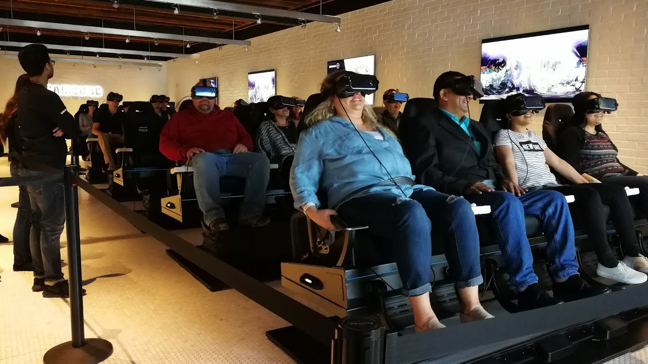 Samsung packing people into the VR rollercoaster ride