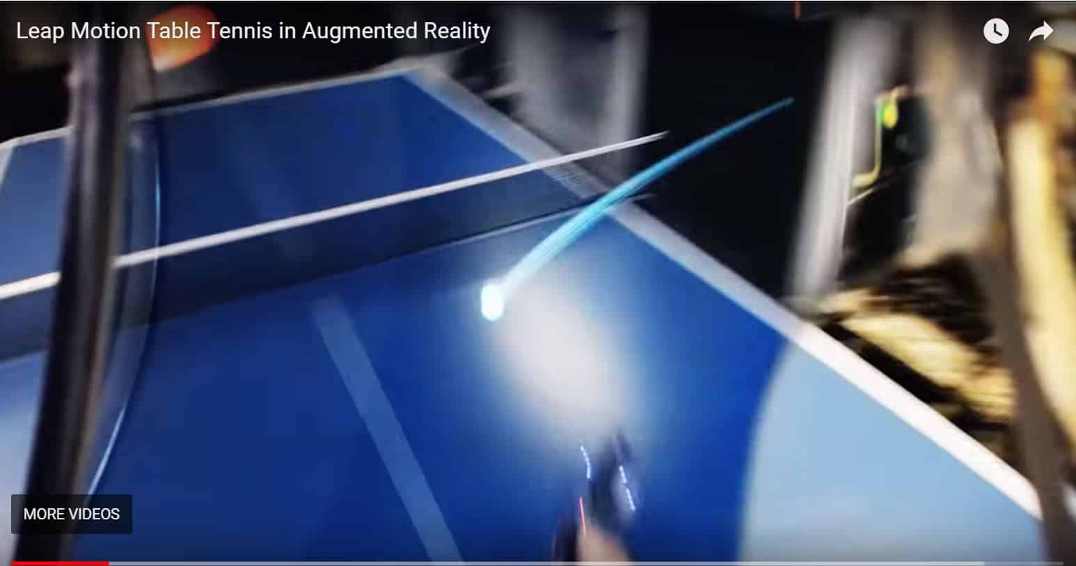 Augmented Reality Table Tennis