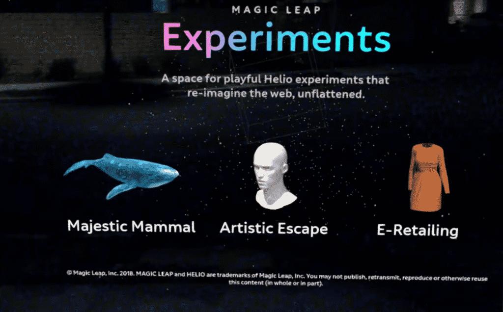 Helios Web App - Magic Leap Whale