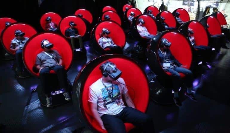 The Future of VR is not the movies - but the positron-voyager chairs are fun.