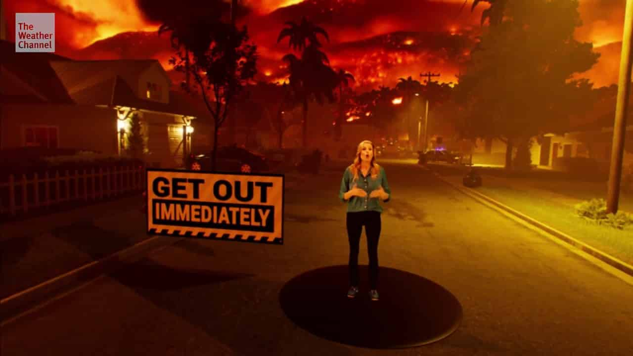 weather channel mixed reality project special effects