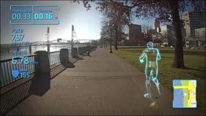 In our top ten VR and AR articles for 2018 - AR Glasses for jogging with yourself