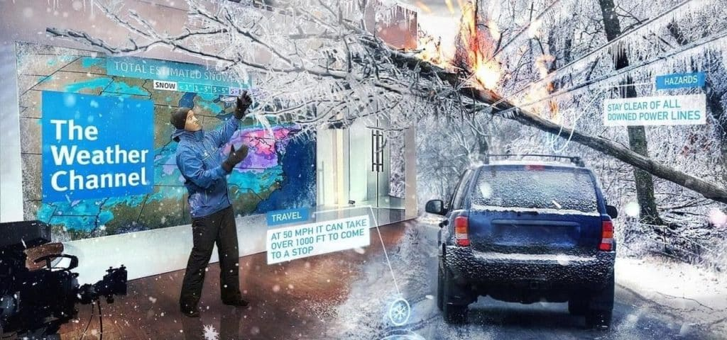 the weather in mixed reality