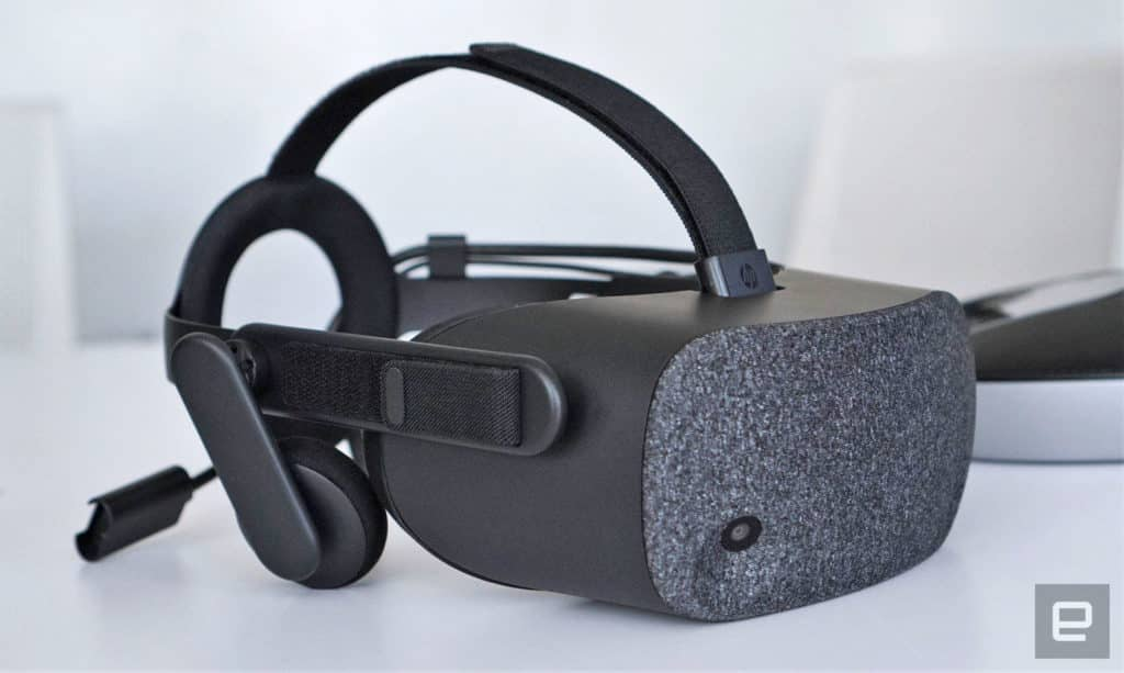 HP Reverb VR Headset Closeup