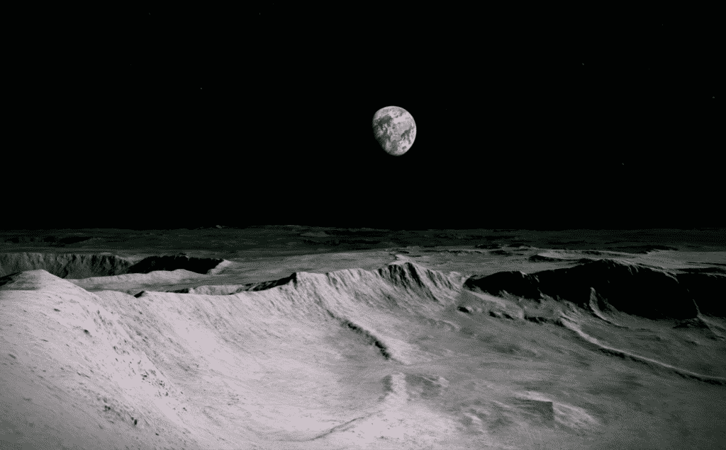 The walk on the moon in VR experience is the work of Turner prize-winning artist Antony Gormley and Yale professor Priya Natarajan