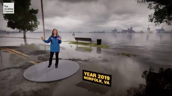The Weather Channel's Climate Change in Mixed Reality