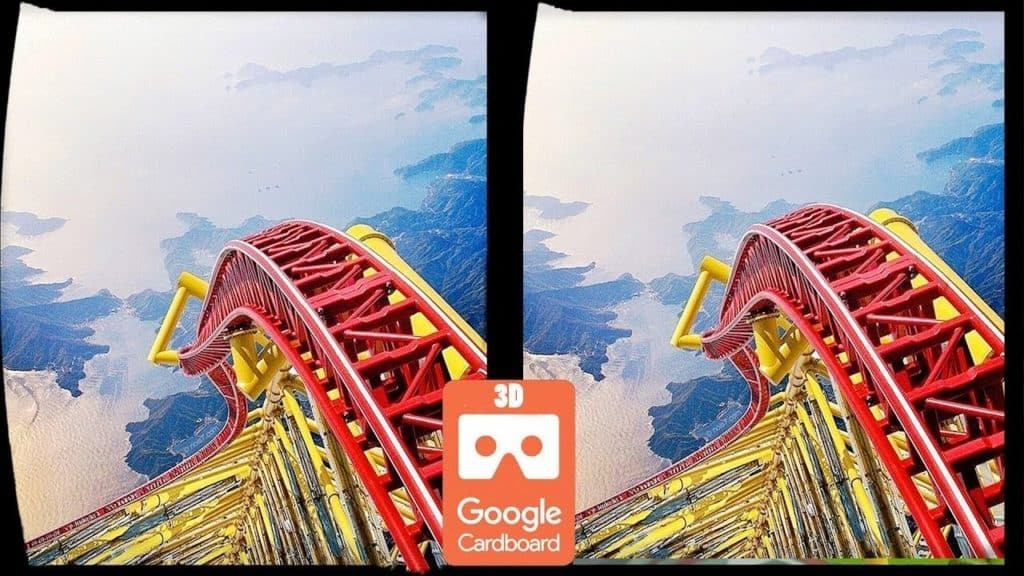 VR roller coaster 360 experience